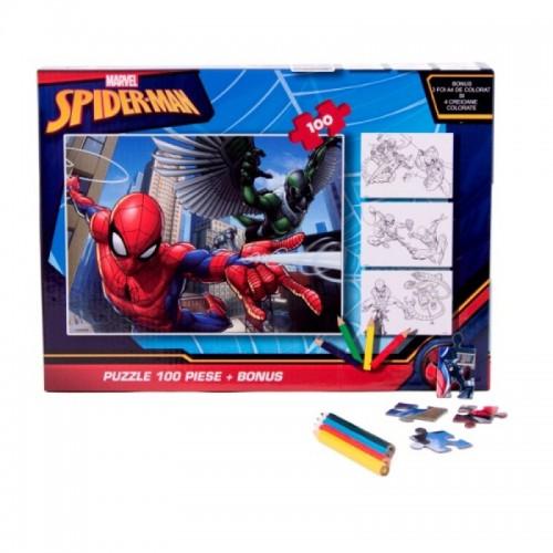 Puzzle 100 piese + Bonus Spiderman2-500x500