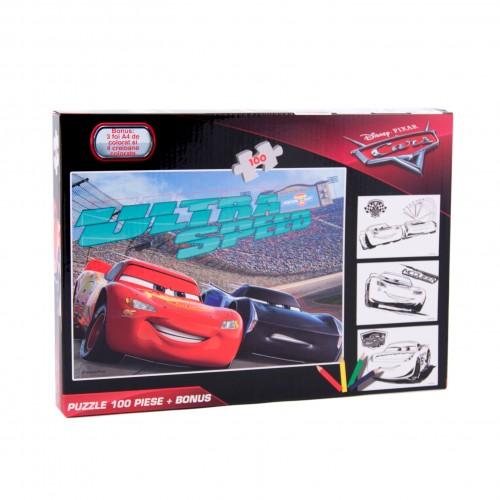 Puzzle-100-piese-bonus-Cars-DCA-XP01